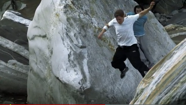 Parkour Verzasca Valley in Switzerland