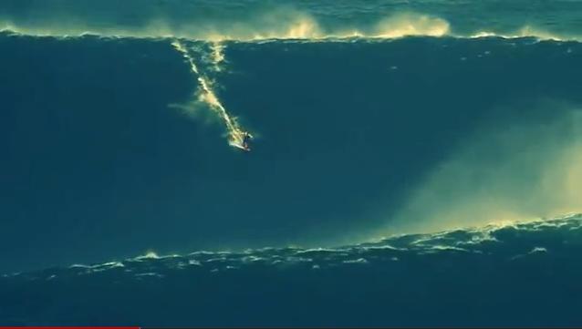 Garrett McNamara Surfs 90 Foot Wave