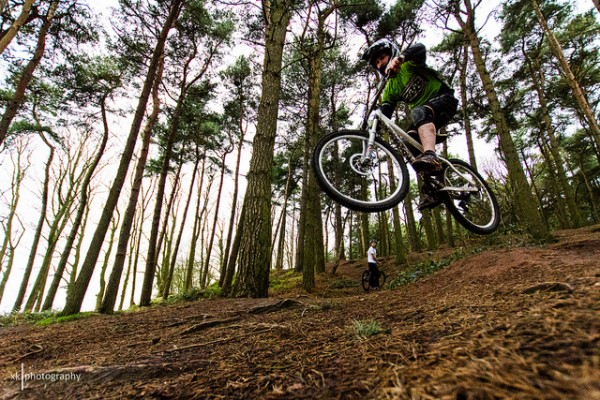 mountain biking at delamere forest near london