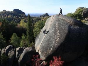 Stolby Siberia Free Solo Climbing